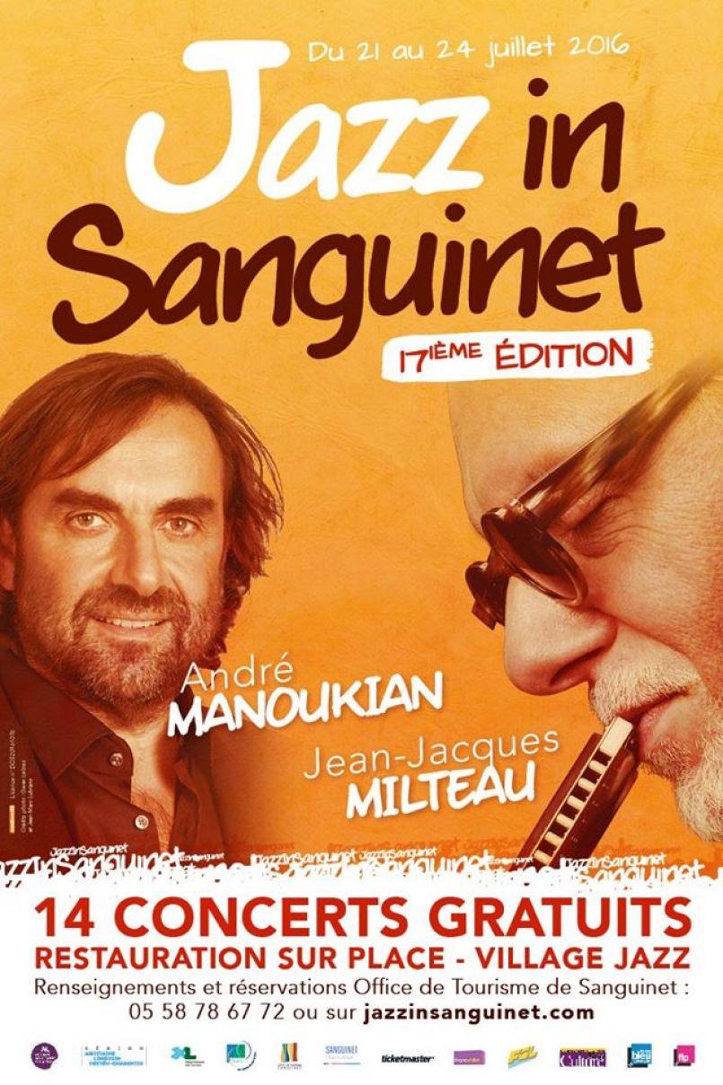 Jazz In Sanguinet c'est maintenant et jusqu'à ce dimanche 24 juillet 2016