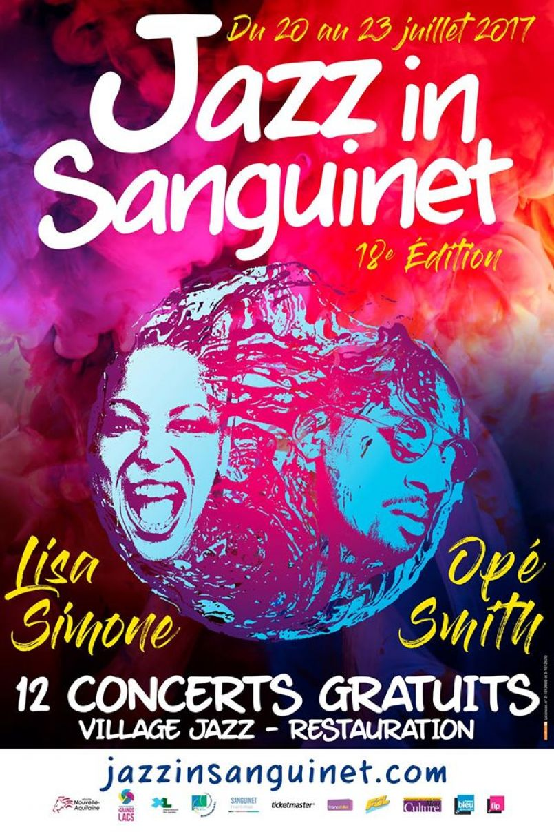 Sanguinet à l'heure de sa 18ème édition de Jazz In Sanguinet, du 20 au 23 juillet 2017