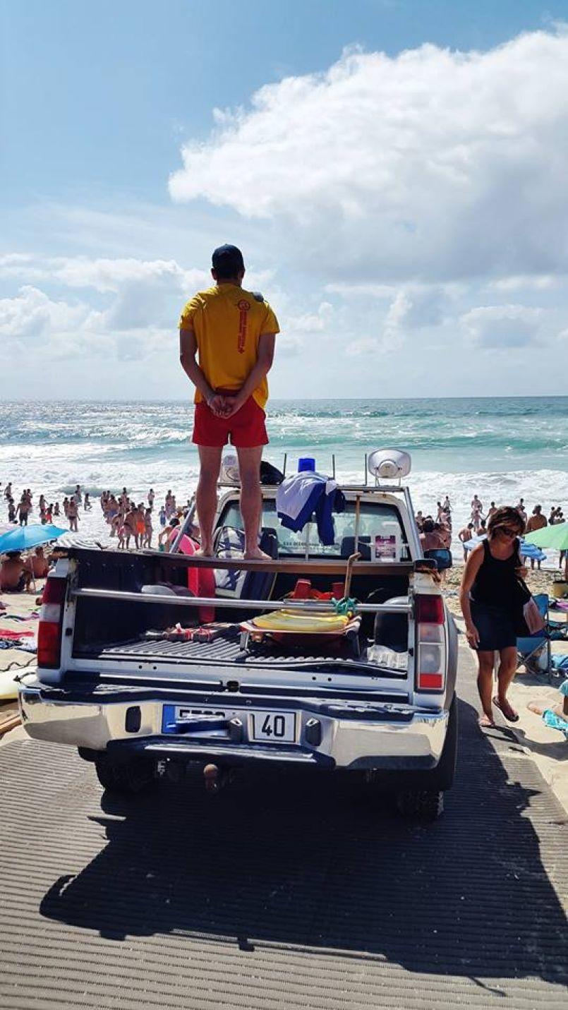 Attention aux forts coefficients sur les plages landaises. Ne jouez pas avec l'Océan. No Sport.