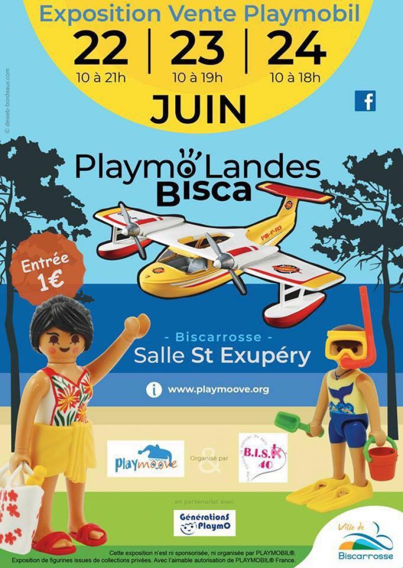 Quelle drôle d'idée...le 1er Salon du Playmobil à Biscarrosse du 22 au 24 juin par Bisc'K 40