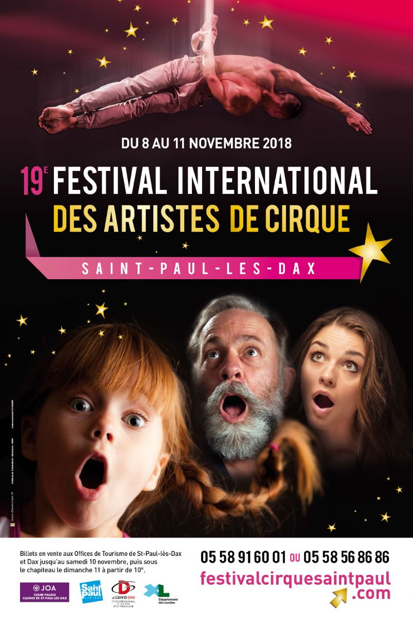 19ème Festival des artistes de cirque : c'est à St Paul lès Dax jusqu'au 11 novembre 2018