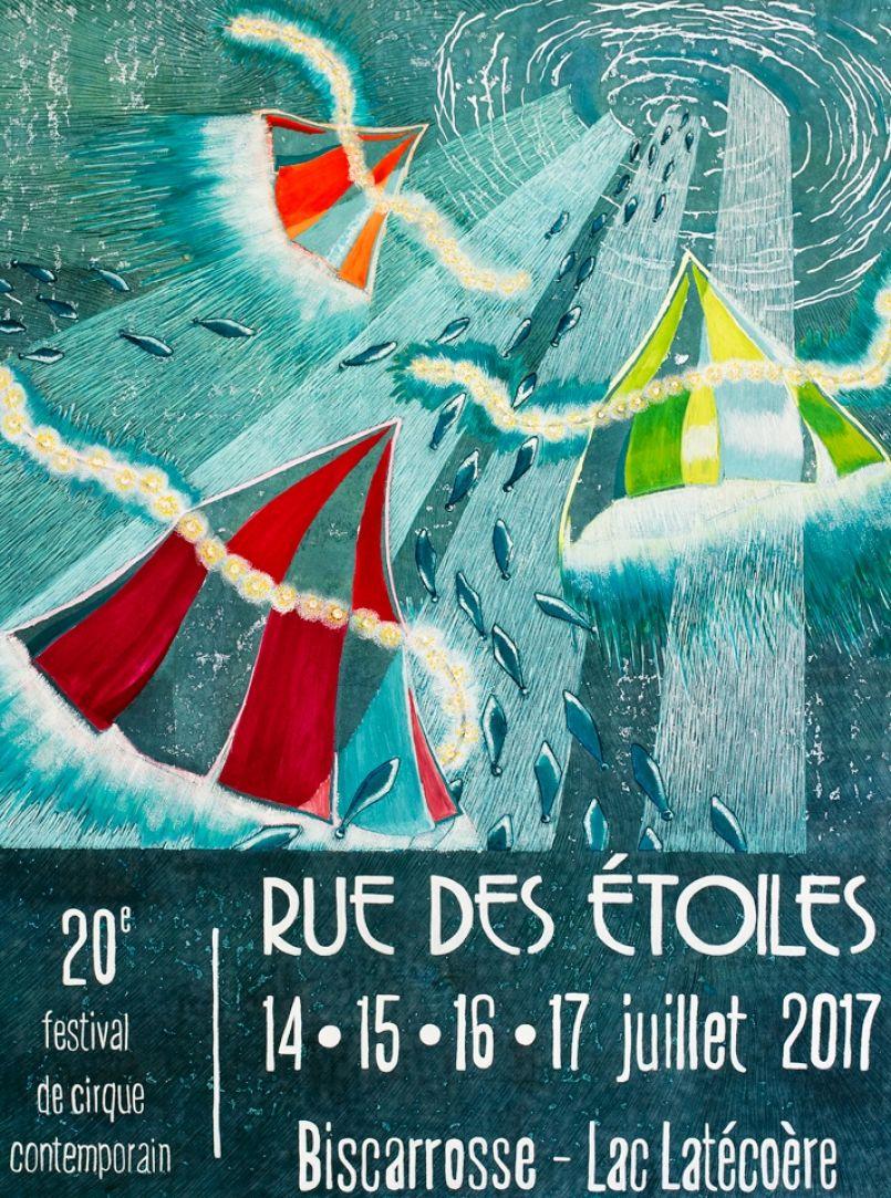 'Rue des Etoiles' à Biscarrosse du 14 au 17 juillet 2017. Vos animations landaises ici...
