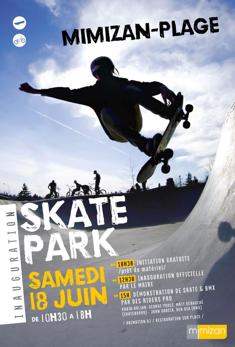 Mimizan inaugure ce 18 juin 2016 son Skate Park à la plage