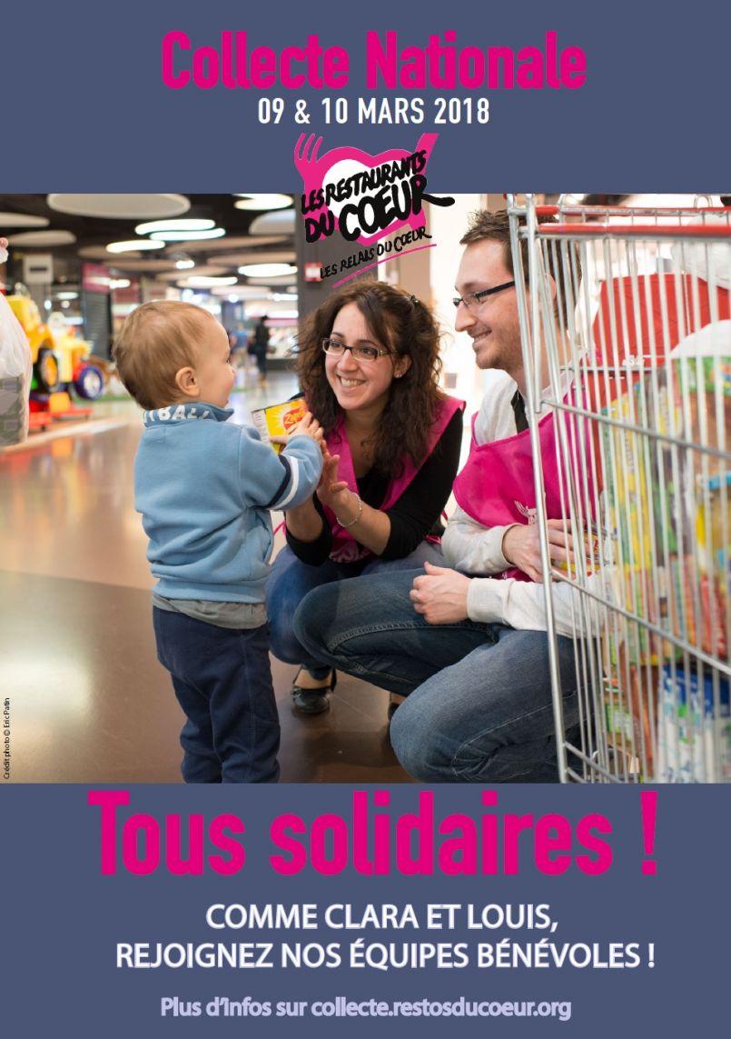 Collecte nationale des Restos du coeur : appel aux bénévoles en mars avec Monique Albouy