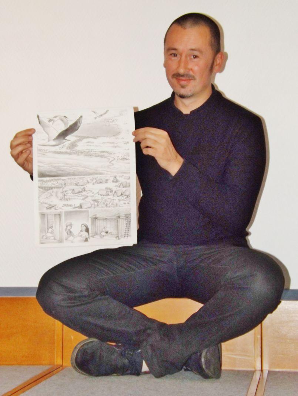 Patrice Cablat, il est l'auteur de la future BD du Pays Landes Nature Côte d'Argent