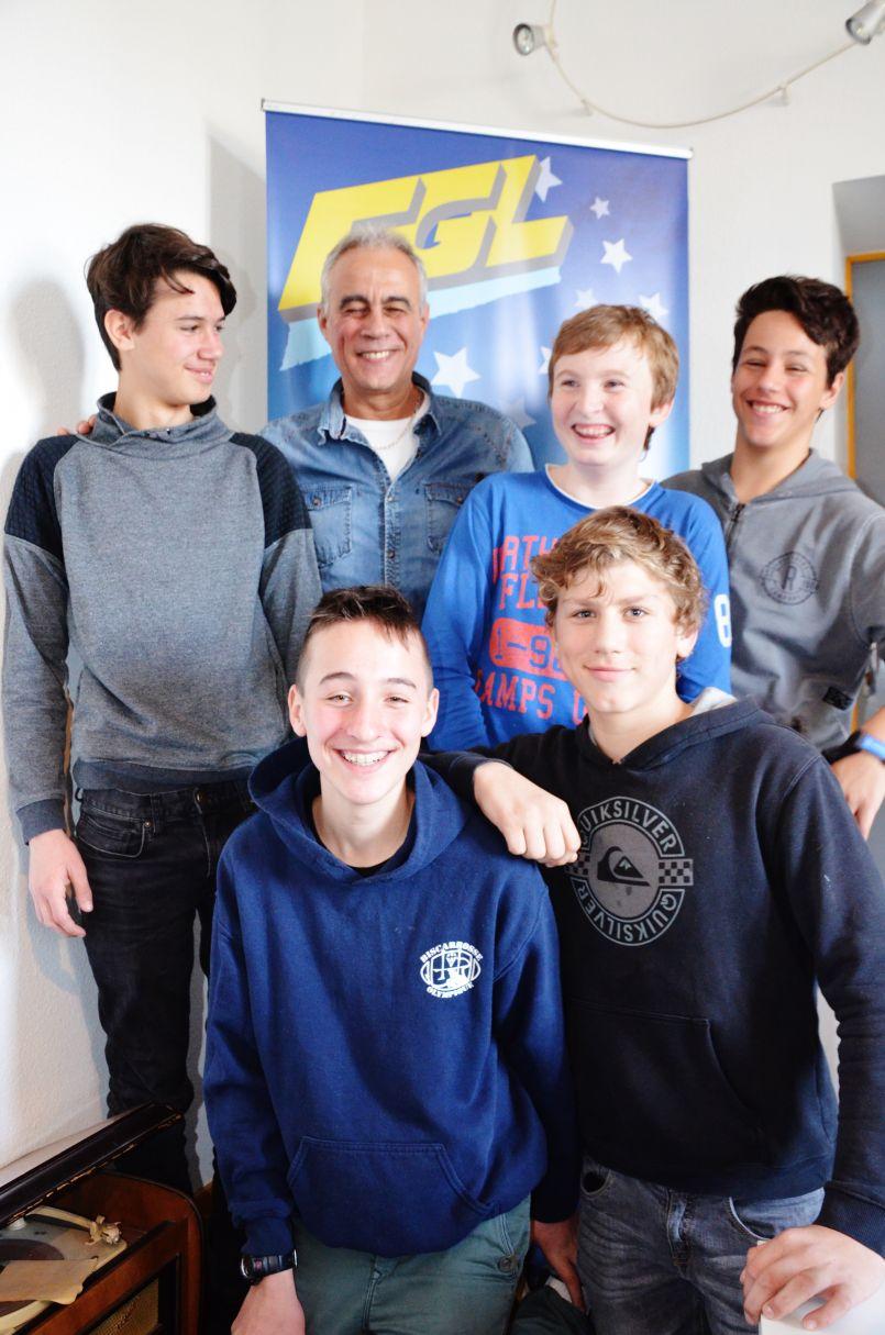Rencontres avec les jeunes rugbymens biscarrossais, champions territoriaux d'arbitrage