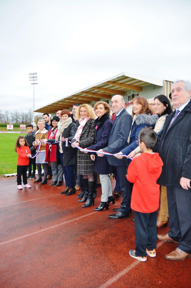 Dax : une nouvelle tribune pour le stade Maurice Boyau de l'US Dax. Elle a été inaugurée ce 30 novembre.