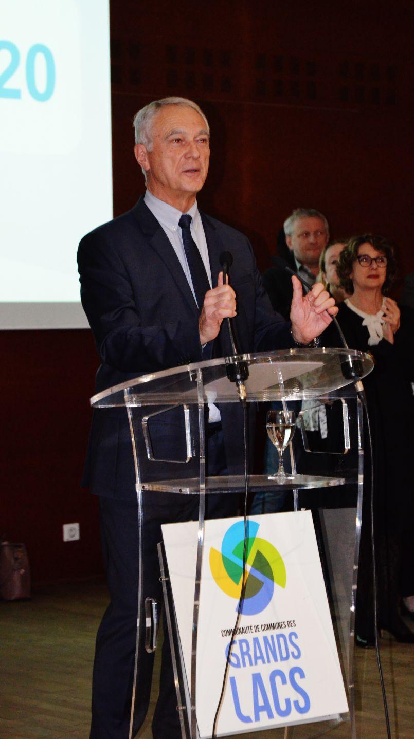 Alain Dudon : dernière cérémonie de vœux pour le président de la Communauté de Communes des Grands Lacs. Il a, à notre micro, donné son sentiment sur l'érosion et les 'Municipales'...