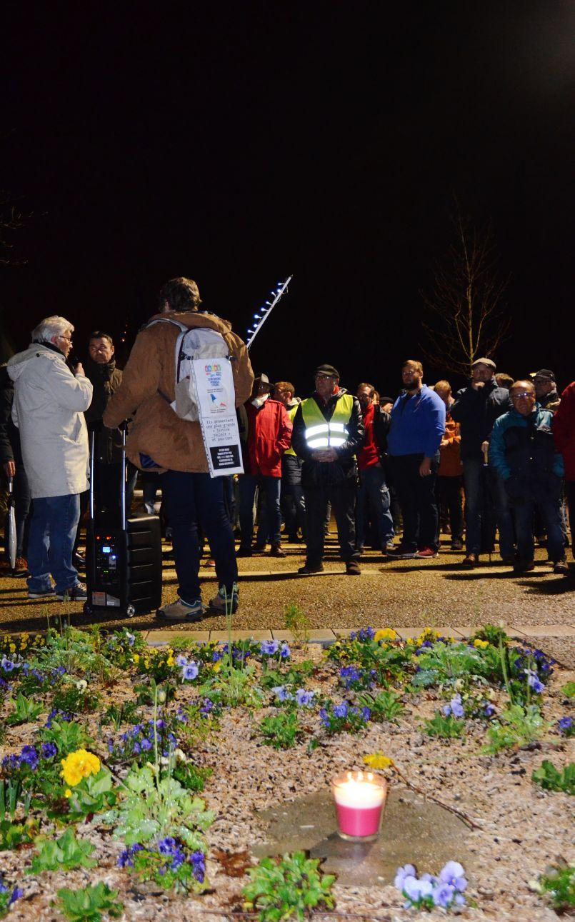 Près de cent manifestants à Biscarrosse contre la réforme des retraites
