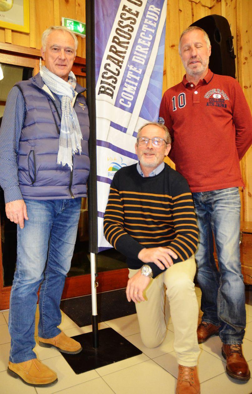 Dernière AG du BO Omnisport pour Alain Dudon et Bruno Piorkowski accueillis par Eric Marbleu.