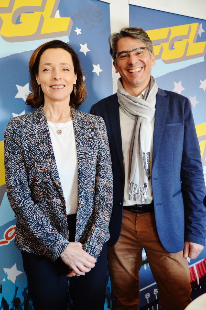 Dernier 'Face-à-face' des Municipales à Biscarrosse : deux personnalités bien 'marquées', Hélène Larrezet et Manuel Diaz.