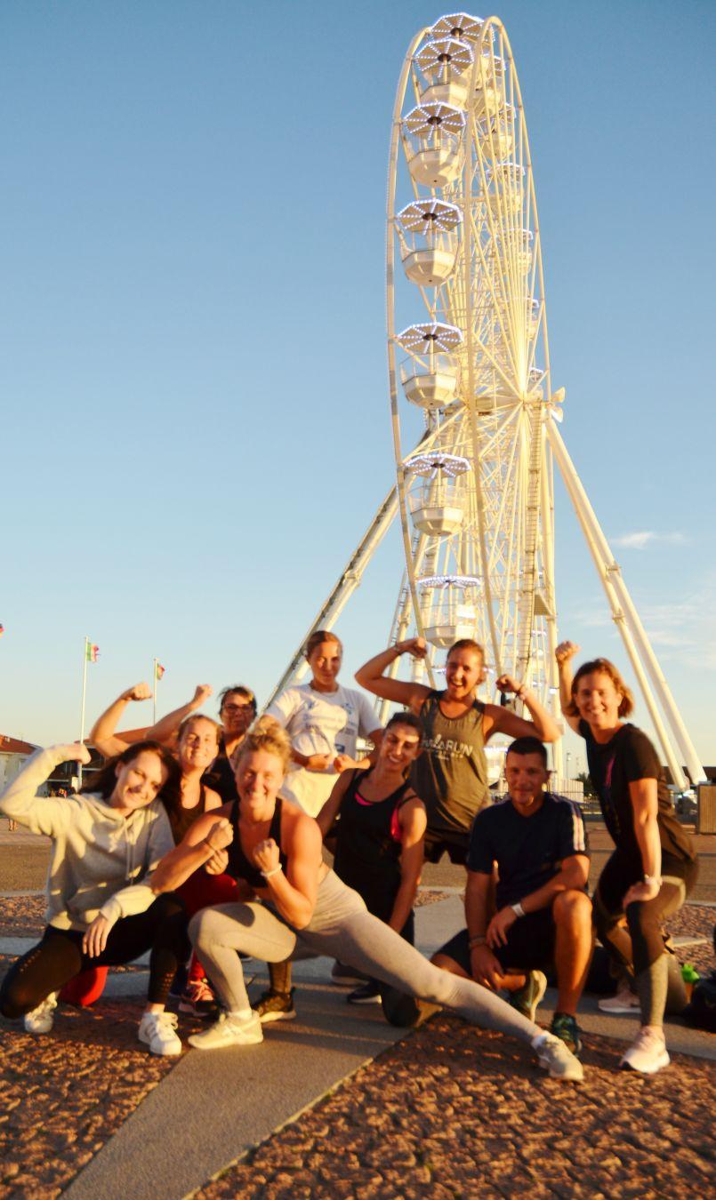 L'Oxygène du 'Fit Challenge' cet été à Biscarrosse-Plage, fruit d'Alyson et Maëlle.