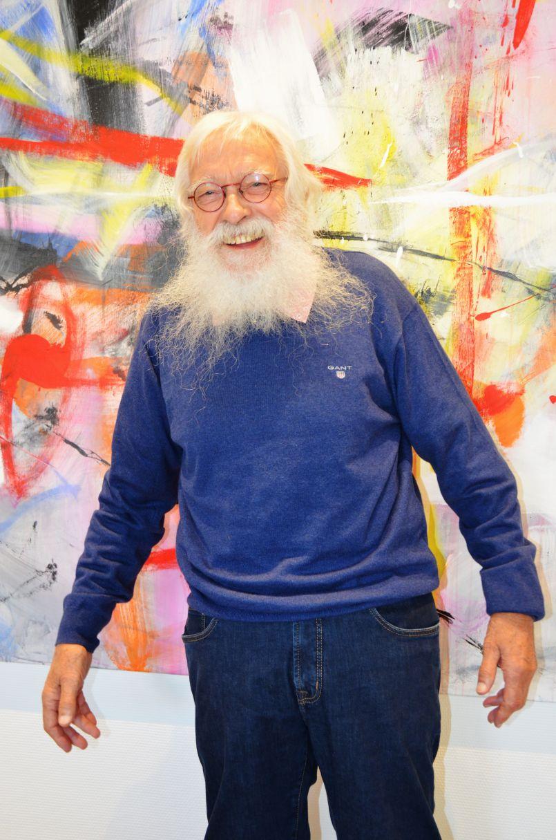 Exposition jusqu'au 4 octobre de Marc Blanck, Galerie de l'Orme de Biscarrosse. Franc parlé et couleurs pour sourire...