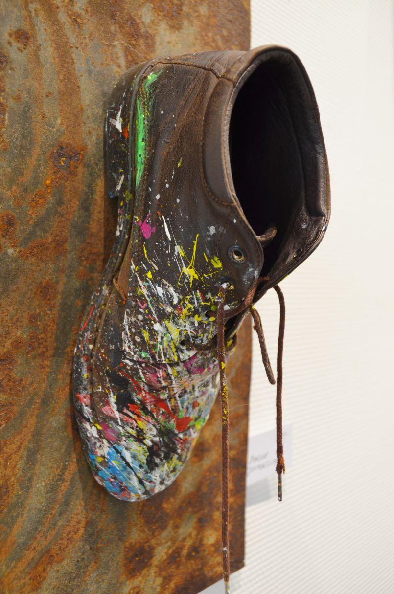 Marc Blanck : la difficile mission d'un artiste-peintre en ces temps de Covid-19. Il expose actuellement à Biscarrosse-ville.