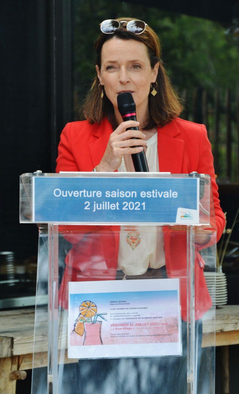 Campagne de lutte contre les incivilités, taux de réservations important et visite des établissements de nuit...à Biscarrosse-Lac le maire Hélène Larrezet a donné le 'la' de la saison estivale 2021
