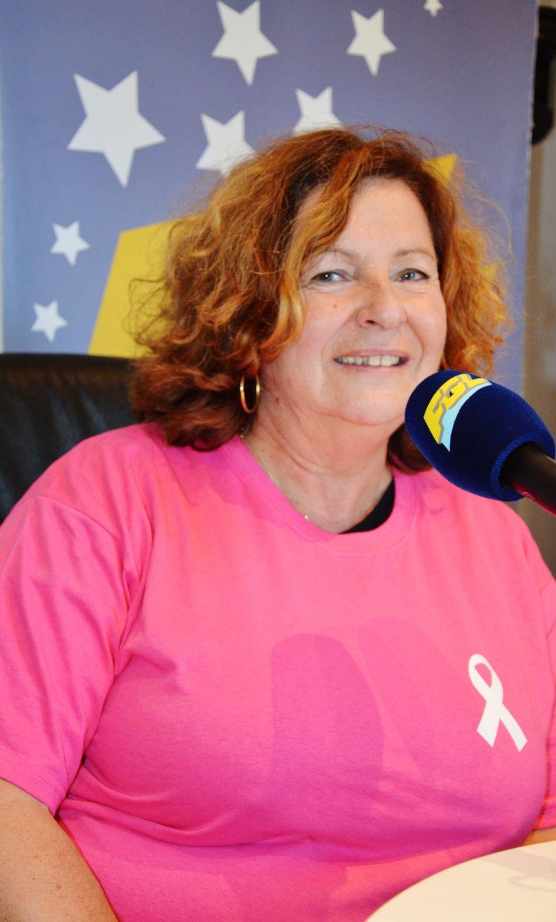 Courez et marchez à Mimizan Plage dans le cadre d'Octobre Rose. Michèle Perier a évoqué le rendez-vous des arènes de ce samedi.