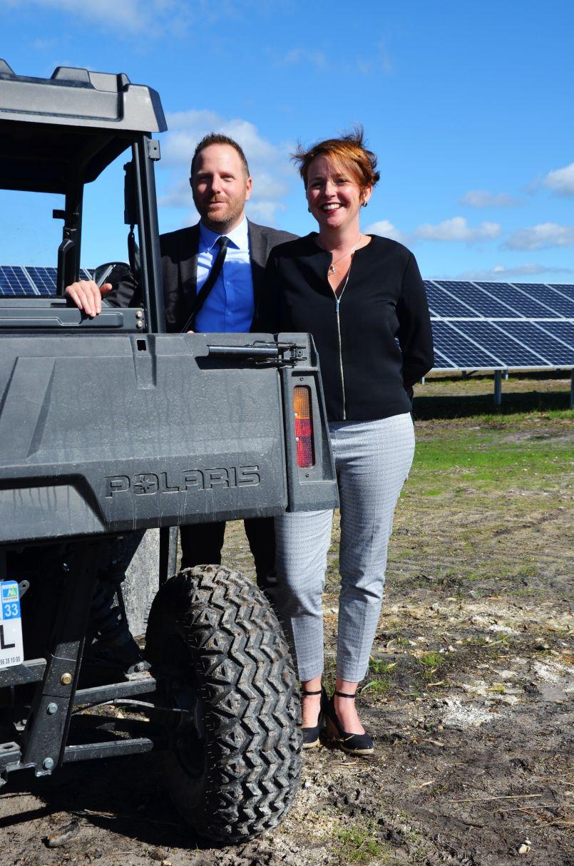 Inauguration du 1er Parc photovoltaïque de Sanguinet. Le soleil pour un 'demain' chaleureux