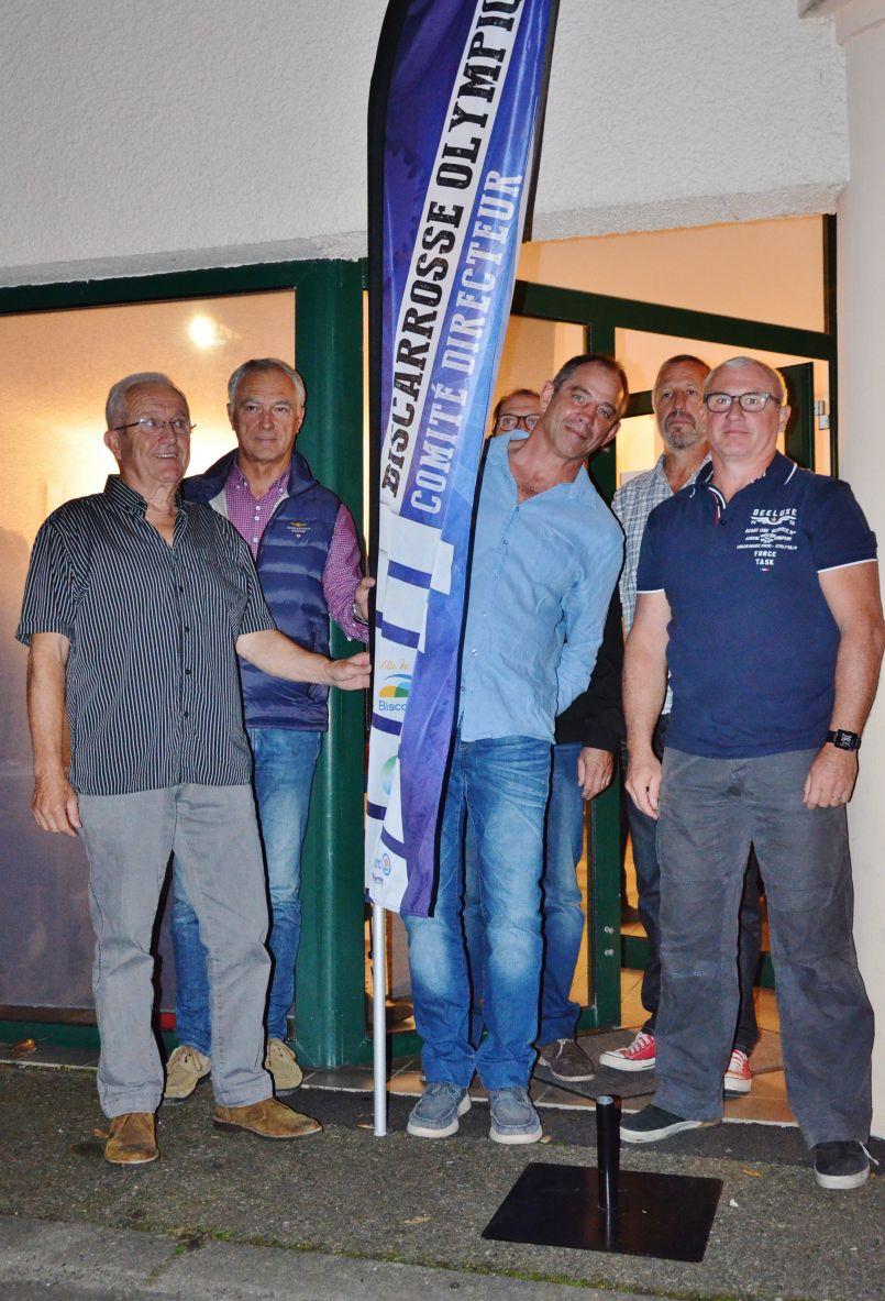 Les présidents de sections ont inauguré le nouveau local du Biscarrosse Olympique Omnisport