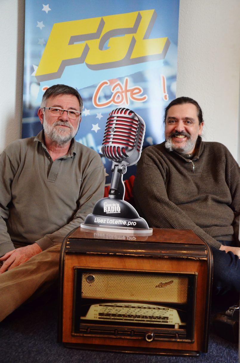 Olivier Saint Laurans et Bernard Bourguignon du Photo Ciné Club de l'Espace