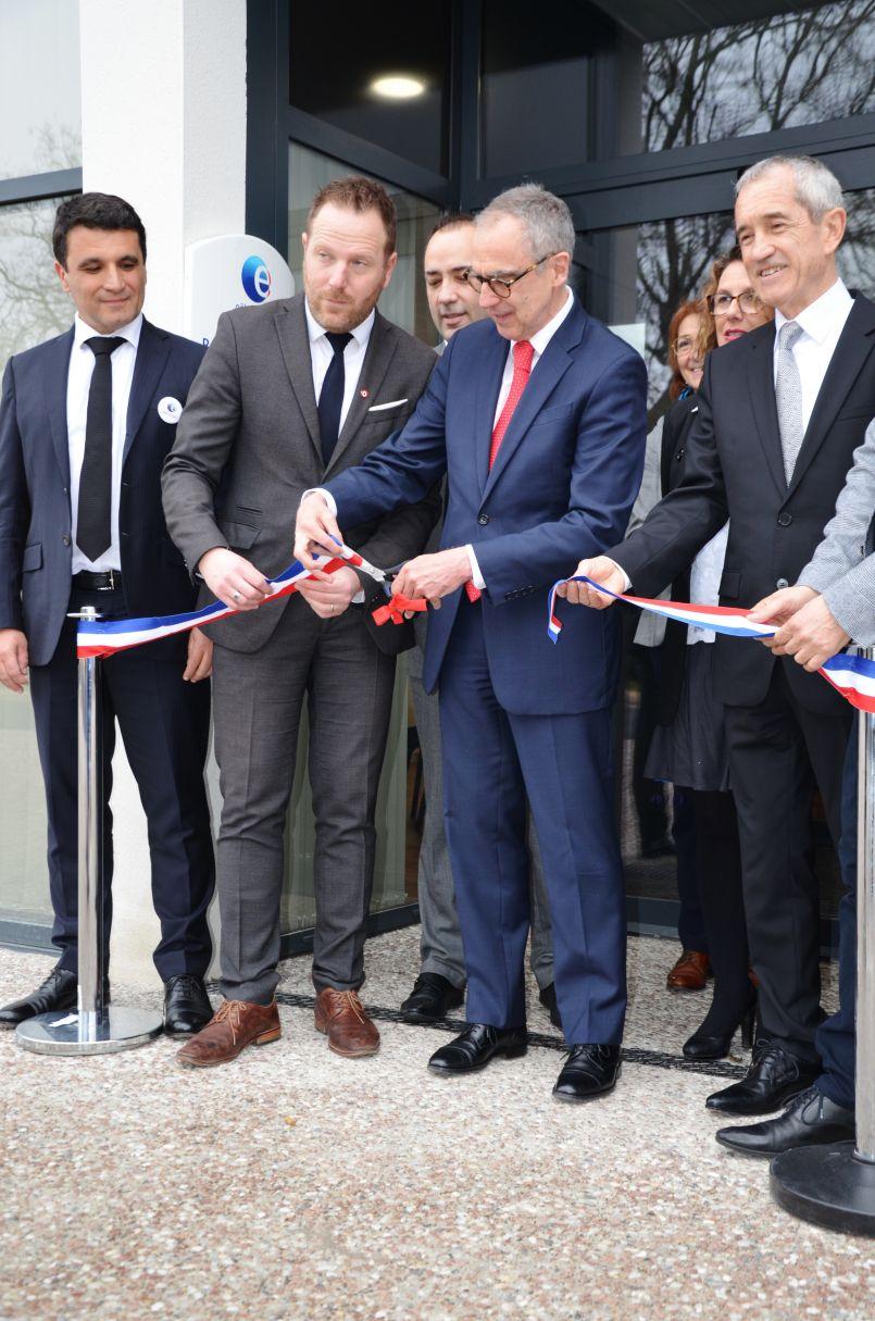 L'Agence De Demain (Pôle Emploi)) inaugurée à Parentis en Born (40).