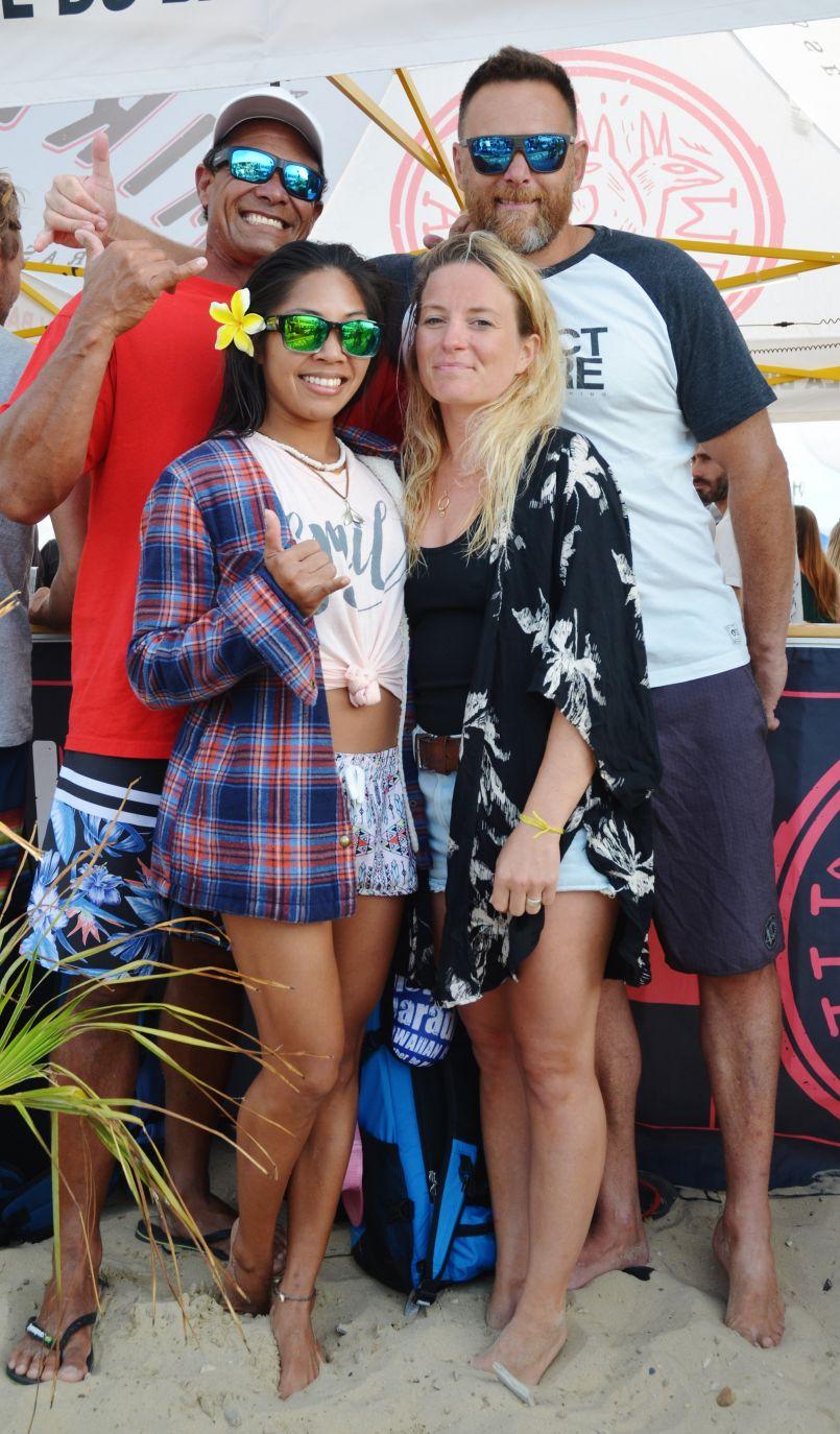Kiwi Surf Festival : Sarah Burel et Rico Leroy champions du monde de surf tandem à Bisca