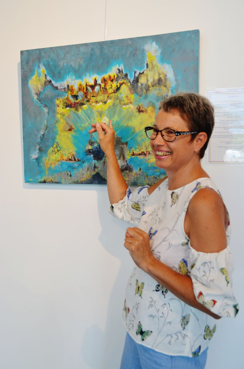 Magali Commeau ou l'art de la peinture intuitive expliquée à Mimizan-Plage, Espace Martin