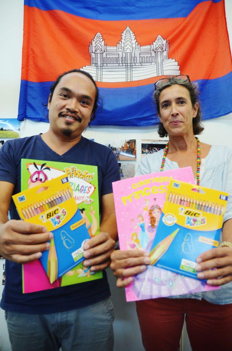 SOS Cambodge à Mimizan avec l'association 'La Part d'enfance' de Valérie et Chap