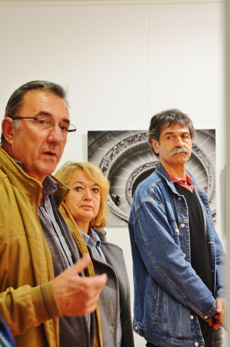 Photographe et sculptrice invités de la Gare de l'Art à St Paul en Born dans les Landes