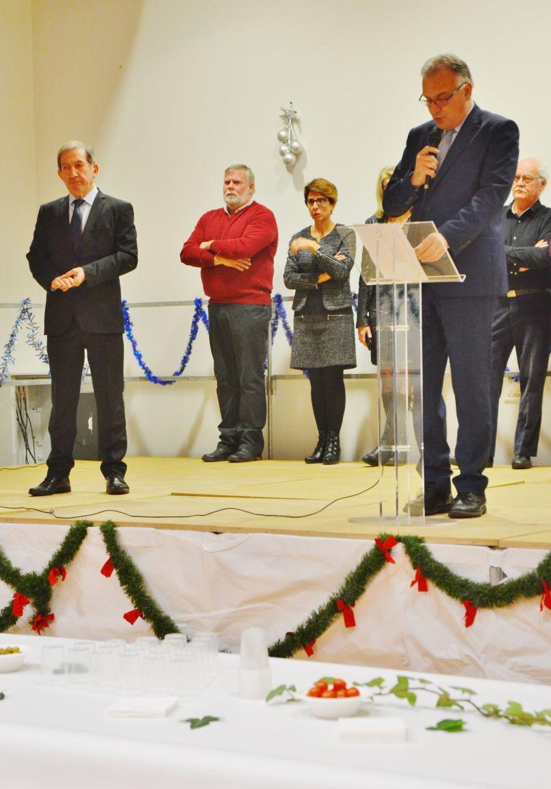 Voeux solidaires pour Xavier Fortinon et Jean-Marc Billac dernièrement à Pontenx les forges