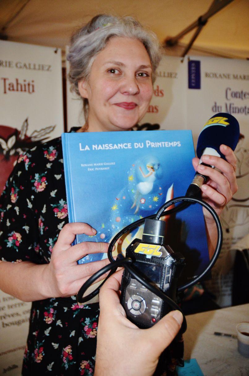 Roxane-Marie Galliez (Prix Chronos 2017) : une marraine 'Printanière' à Parentis en Born