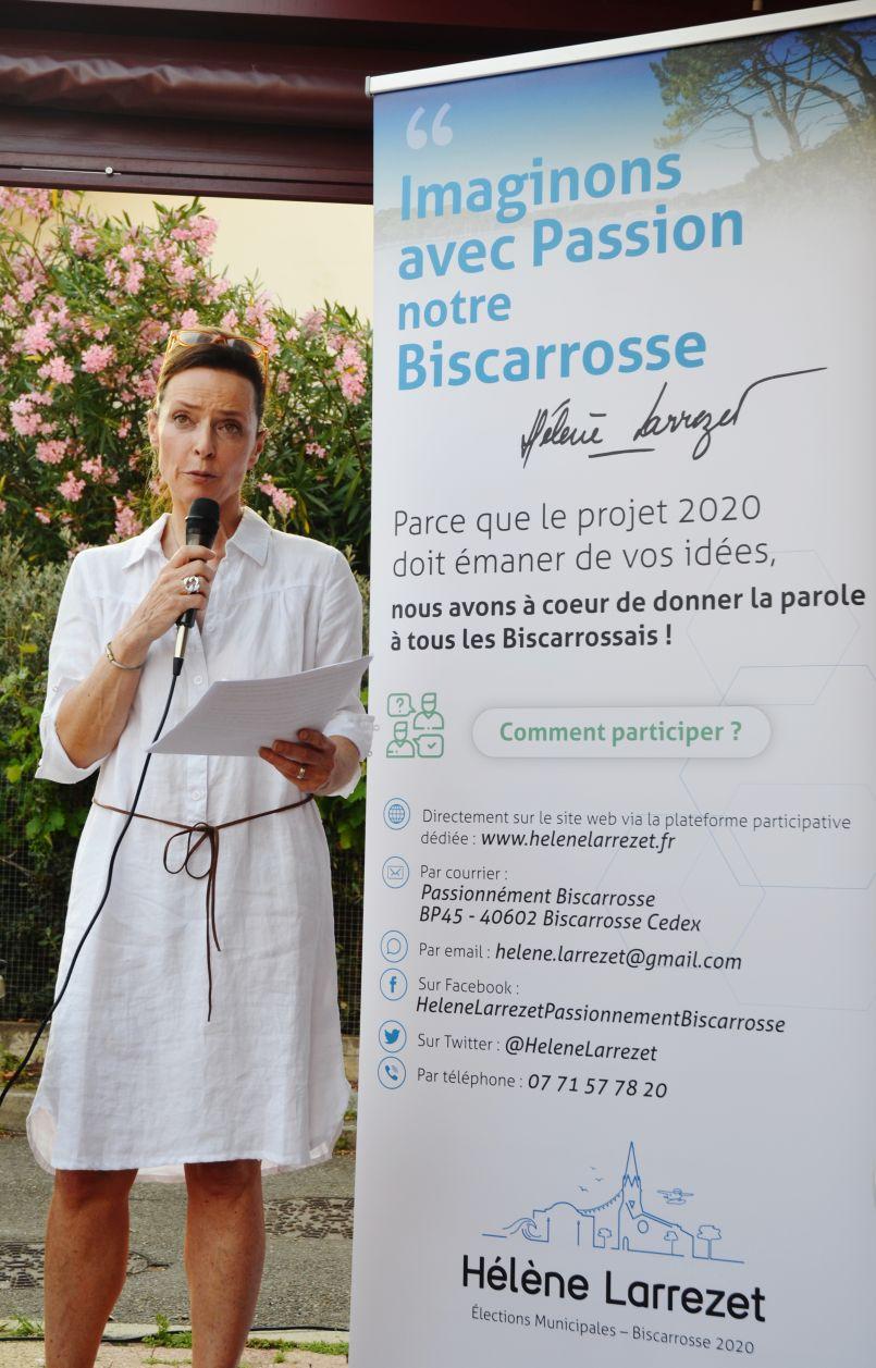 Municipales 2020 : Hélène Larrezet a officialisé sa candidature à Biscarrosse