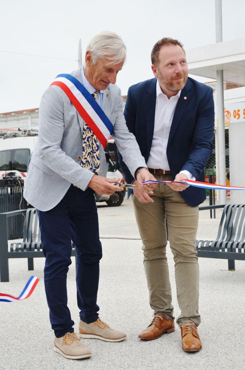Inauguration de la Place des Ormes à Mimizan : un projet qui n'est pas tout a fait terminé...