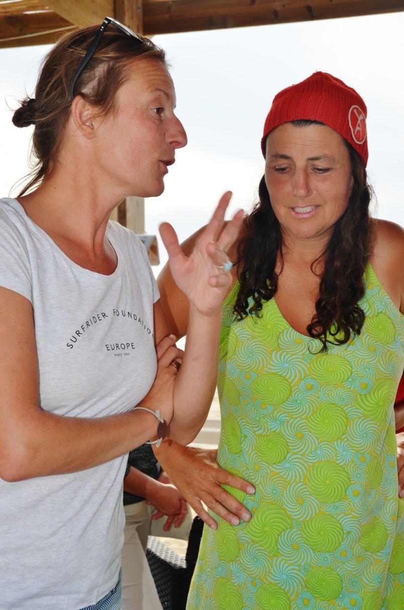 Fin de périple pour Vanessa et Alexandra sur plus de 230 kms entre La Pointe de la Grave et Biarritz