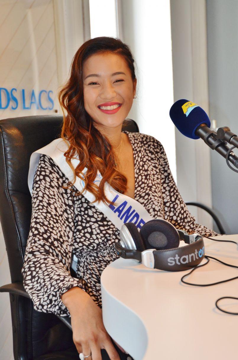 Fréquence Grands Lacs a reçu Miss Landes-Béarn 2019, la solaire Marie-Léa Lauro d'Hossegor