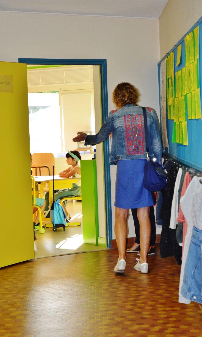 Rentrée scolaire d'après confinement; 'Peu d'élèves mais un bilan logistique satisfaisant...' nous a dit la directrice de l'école de Biscarrosse-Plage, Karine Gracianne.