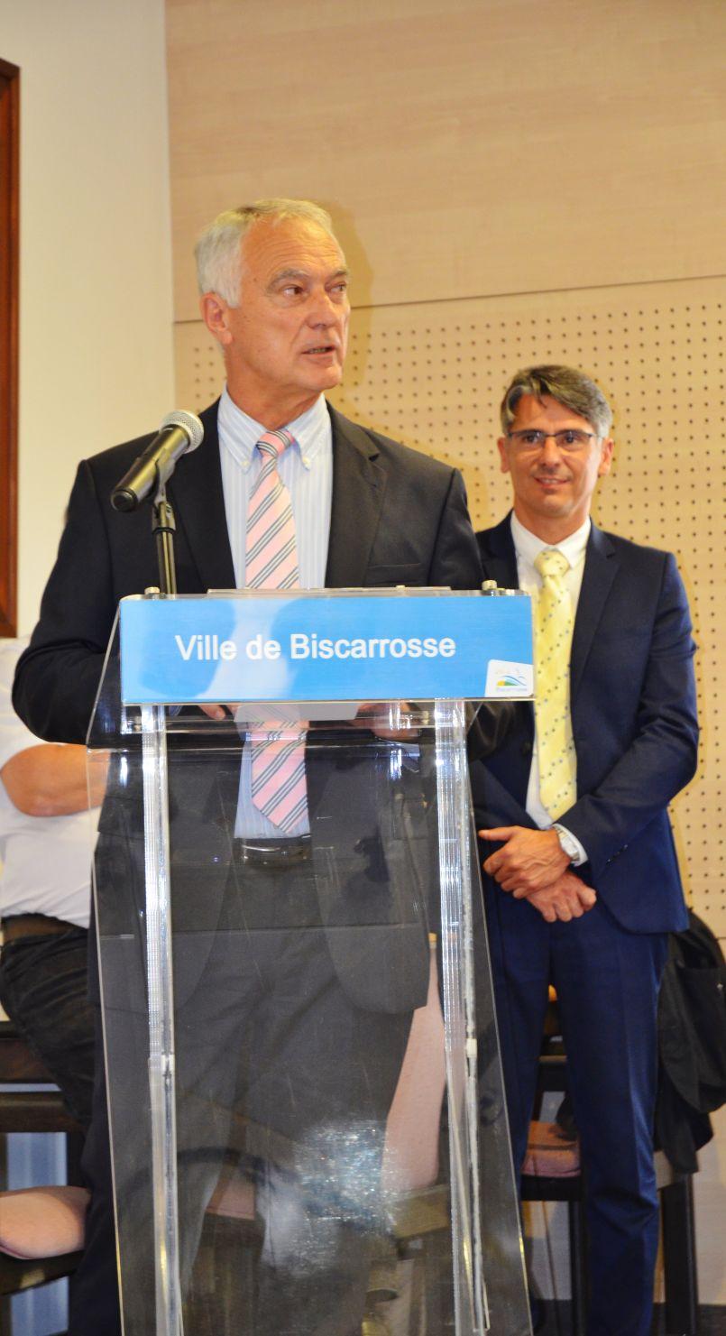 Pour Alain Dudon, maire de Biscarrosse, Manuel Diaz est le plus à même de solliciter en 2020 la confiance des Biscarrossais...