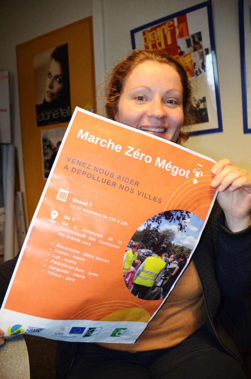 Opération 'Zéro Mégot' pour la Communauté de Communes des Grands Lacs ce 16 novembre sur le Nord des Landes.