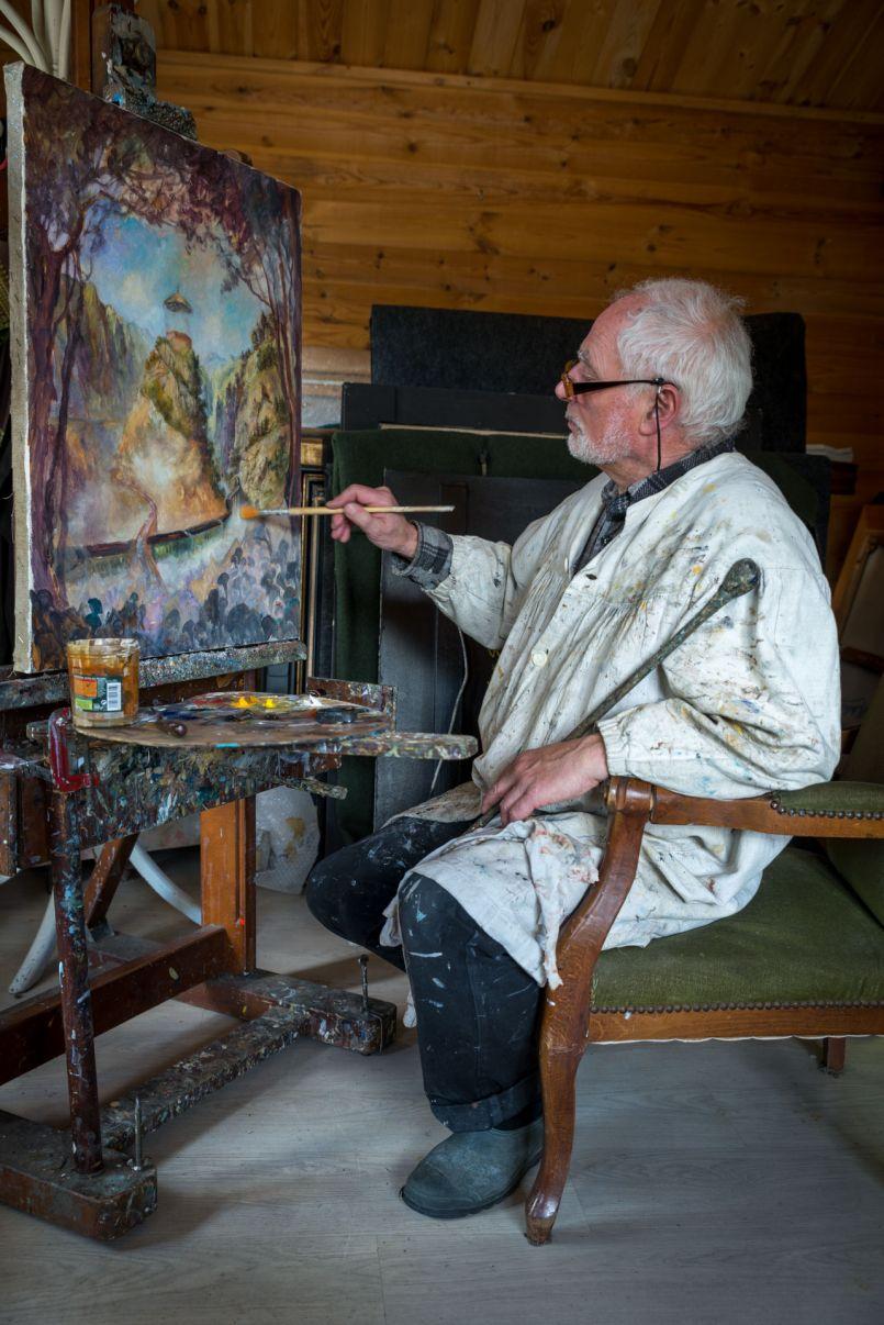 Un grand 'pro' de la peinture séduit tous les visiteurs de la Galerie de l'Orme de Biscarrosse