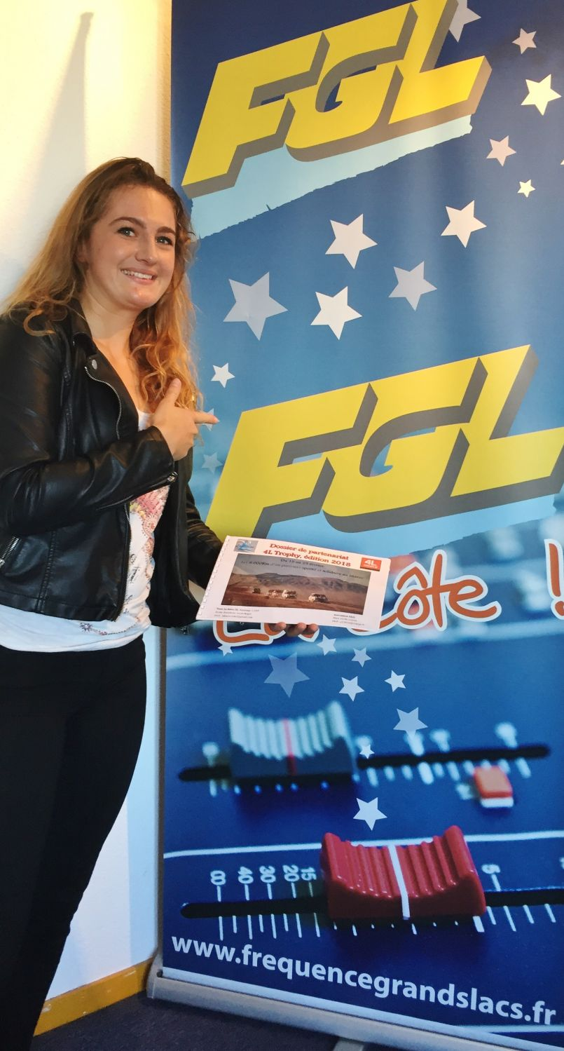 Pour Elodie Bourdenx, le '4L Trophy' du 15 au 25 février 2018....c'est pour elle et Lucas