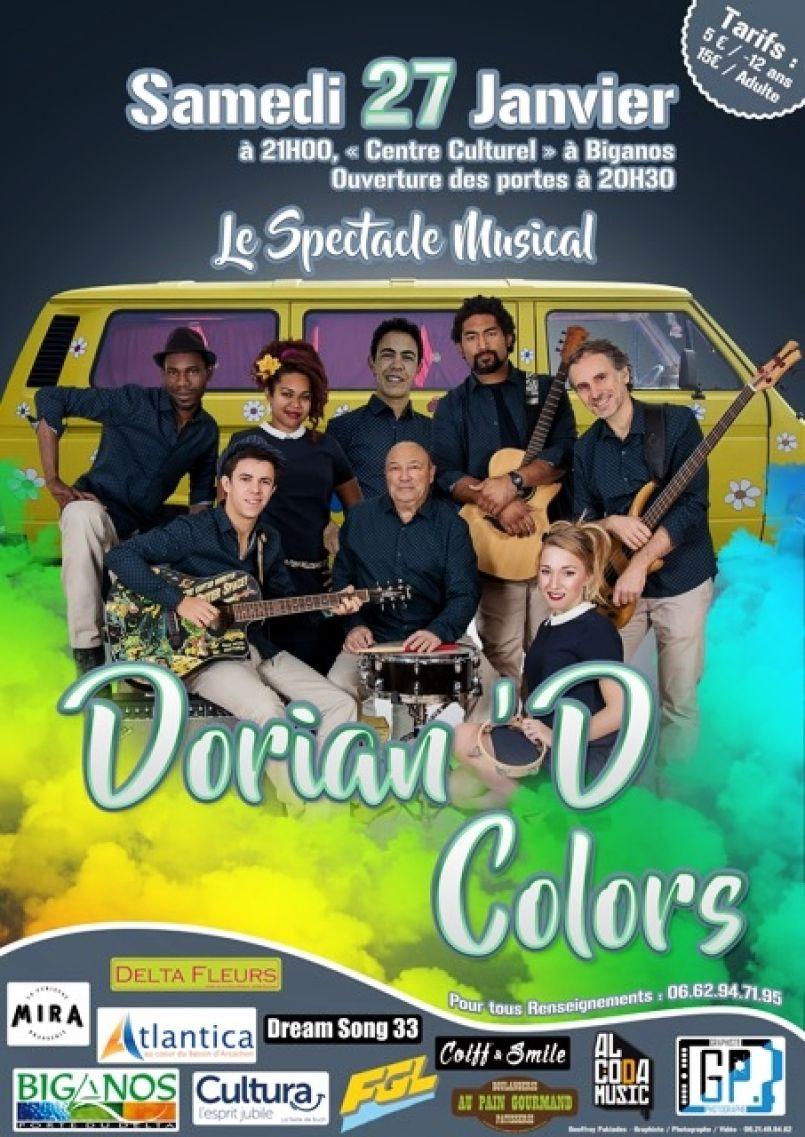 'Dorian D' Colors à Biganos et spectacles 'Tous ensemble' ce 27 janvier 2018 à Biscarrosse
