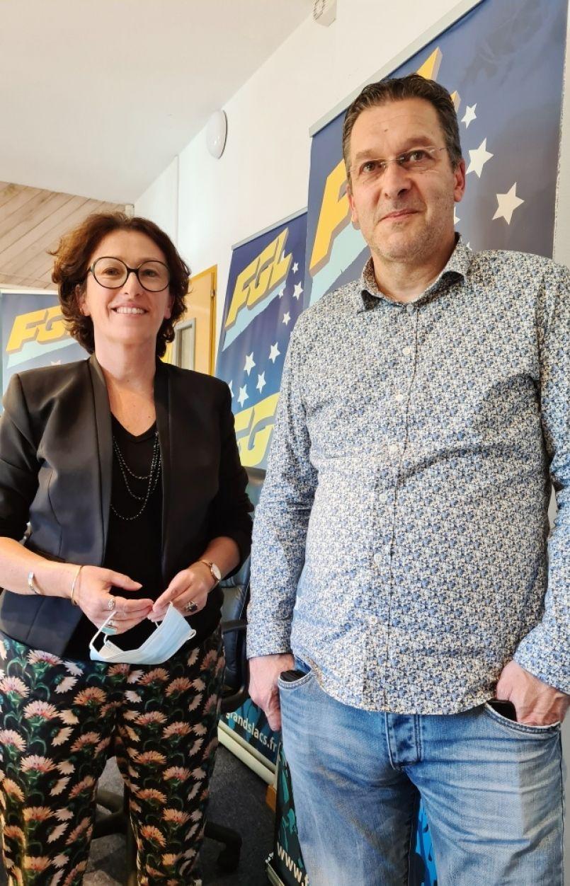 Départementales 2021 : dans le canton des Grands Lacs, 'Landes avec vous' est représenté par Laure Nayach et Daniel Large.