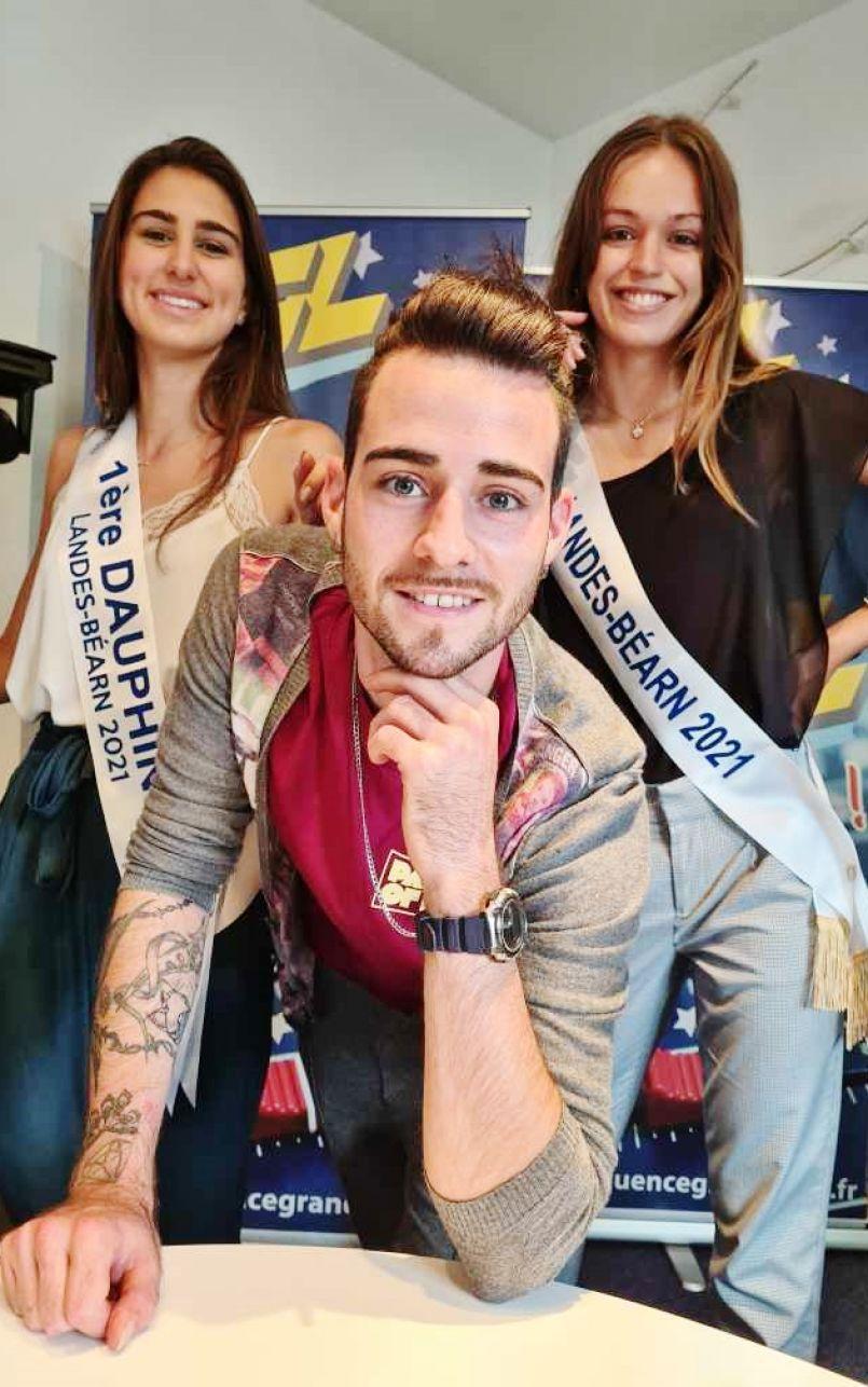Baptême radio pour Jennifer Darracq (Miss Landes-Béarn 2021) et sa 1ère dauphine Juliette Scipion.