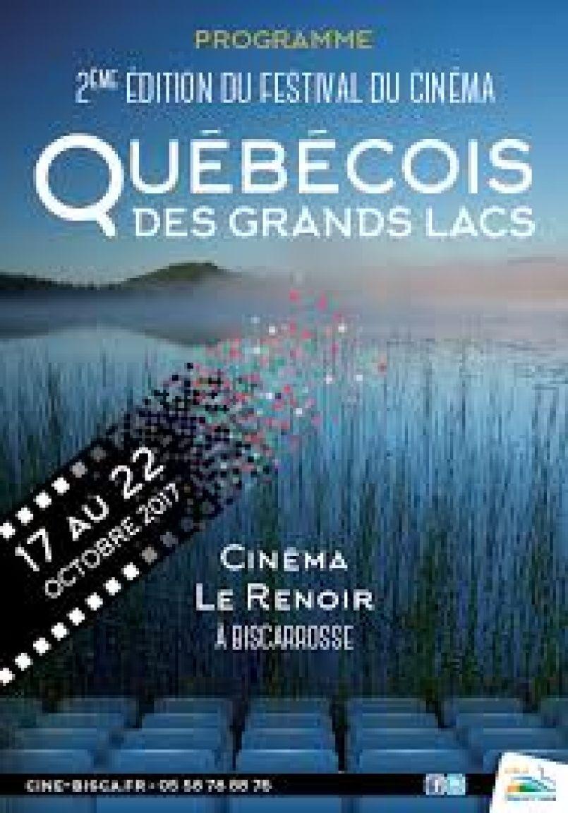 A Biscarrosse c'est, du 17 au 22 octobre, le Festival du Cinéma Québécois des Grands Lacs